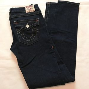 True Religion Womens Jeans Dark Slim Leg Skinny 31